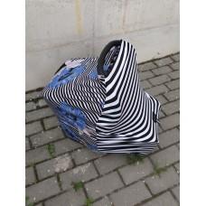 Zebra / Blue flower (Naujas!)